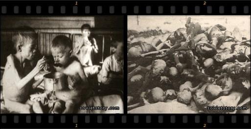 Авторы фильма «The Soviet Story» утверждают, что на этих фотографиях изображены жертвы голода 1932–1933 годов