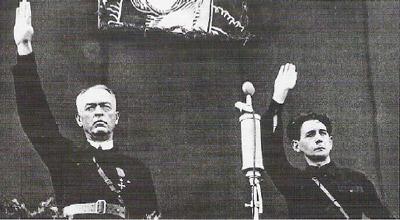 Антонеску и глава легионеров Хори Сима.