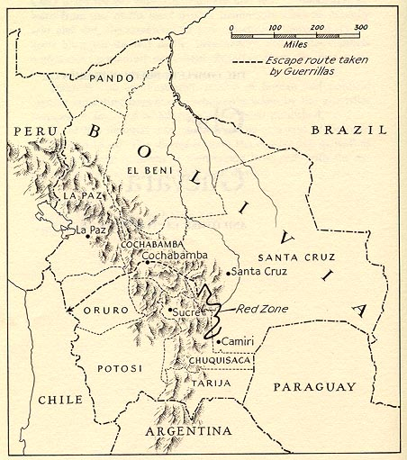 Путь отряда Че в Боливии