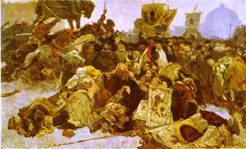 «Кровавое воскресенье» - эскиз художника Е.А. Сорокина, 1954-55 гг. Музей Московского художественного училища