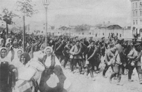 Русские солдаты в Перемышле, март 1915