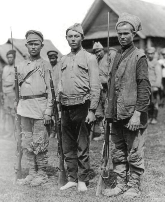 Колчаковцы во время отступления в октябре 1919 г.